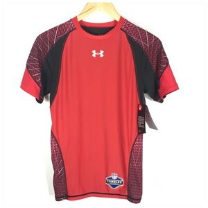 Under Armour NFL Compression Shirt Red Black NWT